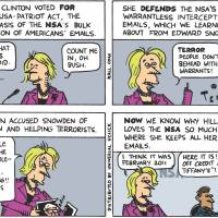 Public goofus Hillary vs. private gallant Hillary