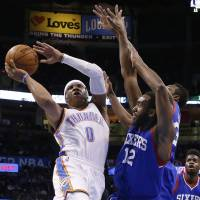 Westbrook notches fourth straight triple-double