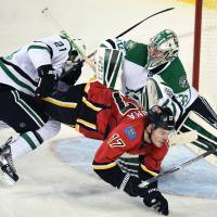 Stars top Flames in shootout