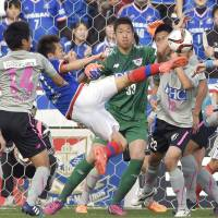 Hyodo leads Marinos to first victory of season