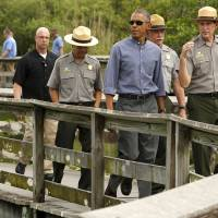 Obama, in Everglades, wades into climate change politics