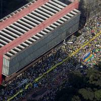 Protests staged across Brazil demanding Rousseff's ouster, but turnout fewer than last rallies