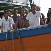More than 300 slave fishermen now safe on Indonesian island
