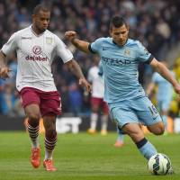Man City steadies ship with nervy win over Villa