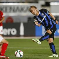 Gamba's Usami scores pair in triumph over Grampus