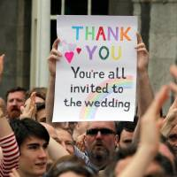 With successful vote, Ireland's gay couples hope to wed by Christmas