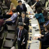 North Korean diplomats drown out defector dissidents at U.N., draw U.S. ire