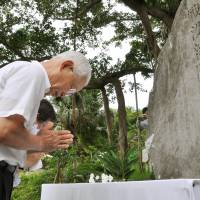 Memorial held for reporters killed in Battle of Okinawa