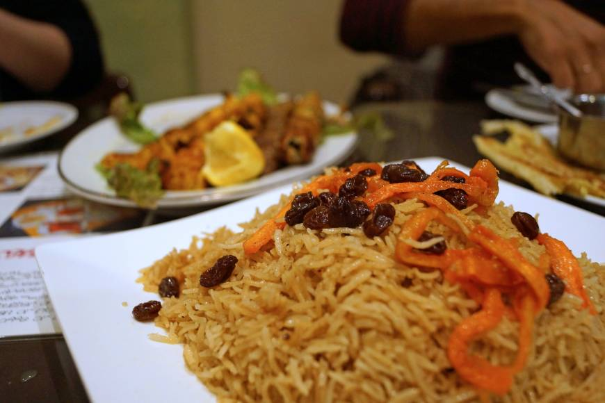 Traditional halal cuisine from afghanistan to iran at for Ariana afghan cuisine menu
