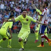 Messi goal helps Barcelona clinch Spanish League title