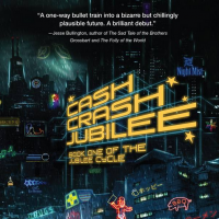 'Cash Crash Jubilee' depicts a future Tokyo where even involuntary bodily functions are patented
