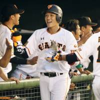 Sakamoto drives in five runs as Giants pound Lions