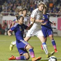 Nadeshiko Japan tops Italy in last match before Women's World Cup