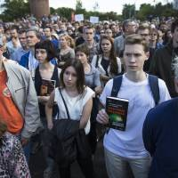Russian scientists stage rare anti-government demonstration