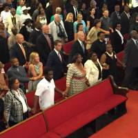 Biden attends services at Charleston church 'to draw strength'