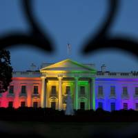 White House lit in rainbow colors after Supreme Court's ruling for gay marriage