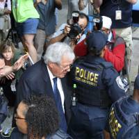 Hastert pleads not guilty in first court appearance in hush-money case
