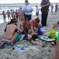 North Carolina shark attack victims were in waist-deep water 20 meters offshore