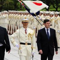 Japan, Australia defense ministers pledge to boost cooperation