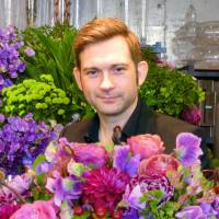 Denmark-born Bergmann's distinctive flower arrangements catch public eye