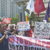 Former 'comfort women,' leftists protest growing Philippines-Japan military ties