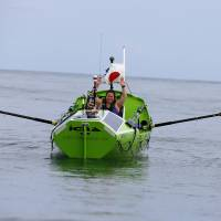 U.S. woman rowing across Pacific alone is rescued off coast of Fukushima