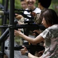 Japanese play survival games to blow off steam but have no stomach for real conflict