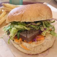Devil's tongue jelly burgers are heaven for vegetarians in Tokyo