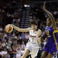 Tokashiki helps Storm rout Sparks in WNBA opener