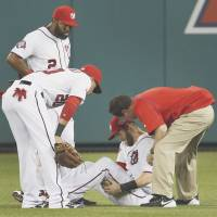 Rays rally past Nats in sixth; Harper hurt
