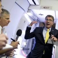 U.S. defense chief in Iraq for talks on war against IS