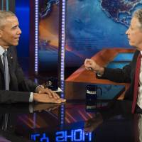 Obama jokes on 'Daily Show' he should have sent Cheney to work out Iran nuclear deal
