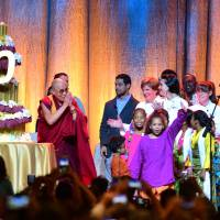 Nobel Peace Prize laureates pay tribute to Dalai Lama on his 80th birthday bash