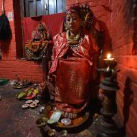 Massive Nepal quake jolted 'living goddess' from cloistered lifestyle