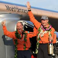 Solar Impulse 2 pilot shrugs off fatigue  to fly into record books