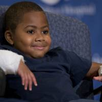 Maryland boy, 8, youngest ever to get double hand transplant