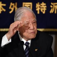 Ex-Taiwan President Lee backs Abe's security bills