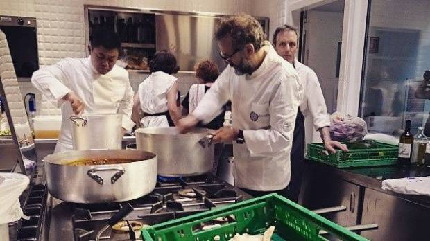 Chef Narisawa tackles food waste at Milan soup kitchen