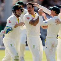 Australia deals crushing blow in second test to level Ashes
