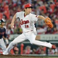 Carp hurler Maeda cruises to third straight victory