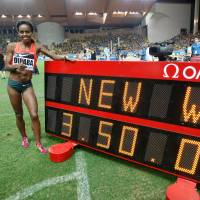 Dibaba sets world record in 1,500