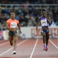 Fraser-Pryce victorious in Stockholm 100