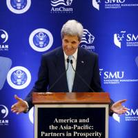 Kerry pushes Asia trade pact in Singapore