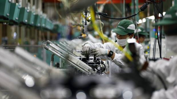 Japan factory output down in July as China demand slumps