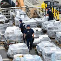 Coast Guard, after budget restored, logs record cocaine busts in Pacific