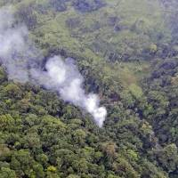 Colombia copter crashes in hunt for drug don; 15 police offers killed