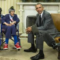 Michigan woman believed to be oldest U.S. veteran dies at 110, met Obama in July