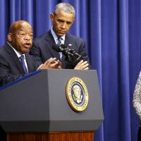 Obama again calls for restoration of Voting Rights Act in face of Republican opposition