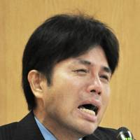 Former Hyogo assemblyman who bawled at news conference charged with fraud