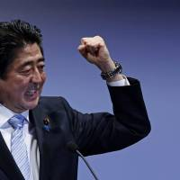 Abe on defensive as LDP eyes leadership poll delay, Iwate gubernatorial pick bows out